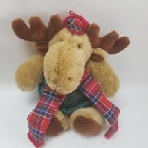 "Commonwealth Moosletoe Moose Scarf Vest Hunting Hat 1994 14"" Sold @ Hall... - $19.75"