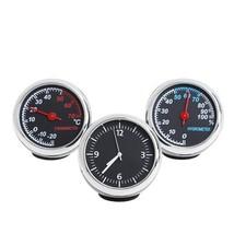 Moisture Meter 3Pcs/SET Car Quartz Hygrometer Time Clock Temperature The... - $19.79