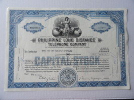 Stock Certificate Philippine Long Distance Tele... - $9.99
