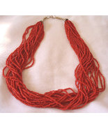 Necklace with 20 Beaded Strands and Padded Case - $17.50