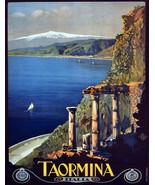 "20x30""Poster on Canvas.Home Room Interior design.Travel Italy.Taormina.6519 - $60.78"
