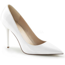 """PLEASER Sexy Shoes Classic Pointed Toe White 4"""" Stiletto Heels Pumps CLAS20/W - $46.95"""