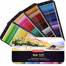 160 Colored Pencils,Artist Pencils Set for Coloring Books,Ideal for Coloring and