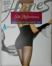 Pantyhose Hanes Silk Reflections High Waist Control Top Little Color Siz... - $9.85