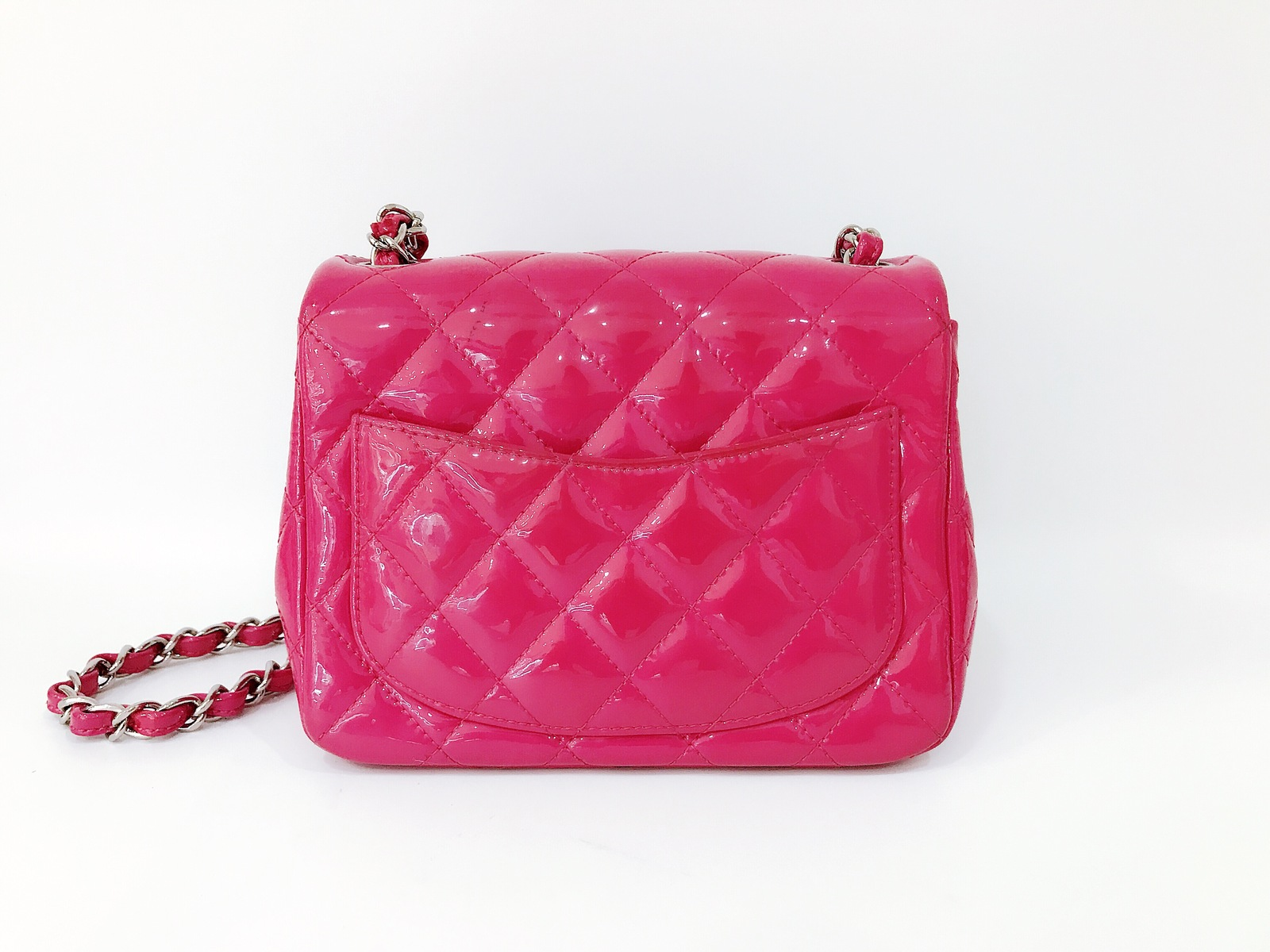 cfa9e1c08531 Authentic Chanel Pink Quilted Patent Leather and 40 similar items