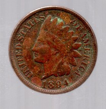 1894  Indian Head Cent Circulated abt Good - $4.99