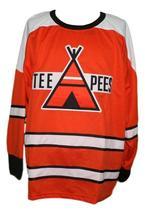 Custom Name # St Catharines Teepees Retro Hockey Jersey New Orange Any Size image 4