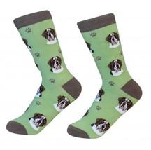 Saint Bernard Socks Unisex Dog Cotton/Poly One size fits most - $11.99