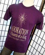 Adoration In Search of a King Religious Baptist 50/50 purple adult tee shirt lar - $19.95