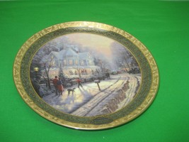 Thomas Kinkade 1999 Plate A HOLIDAY GATHERING Cherished Christmas Memories - $28.01