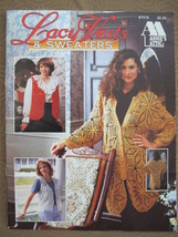 ANNIES ATTIC Crocheting Crochet Patterns LADIES Lacy Lace Vests and Sweaters  - $9.95