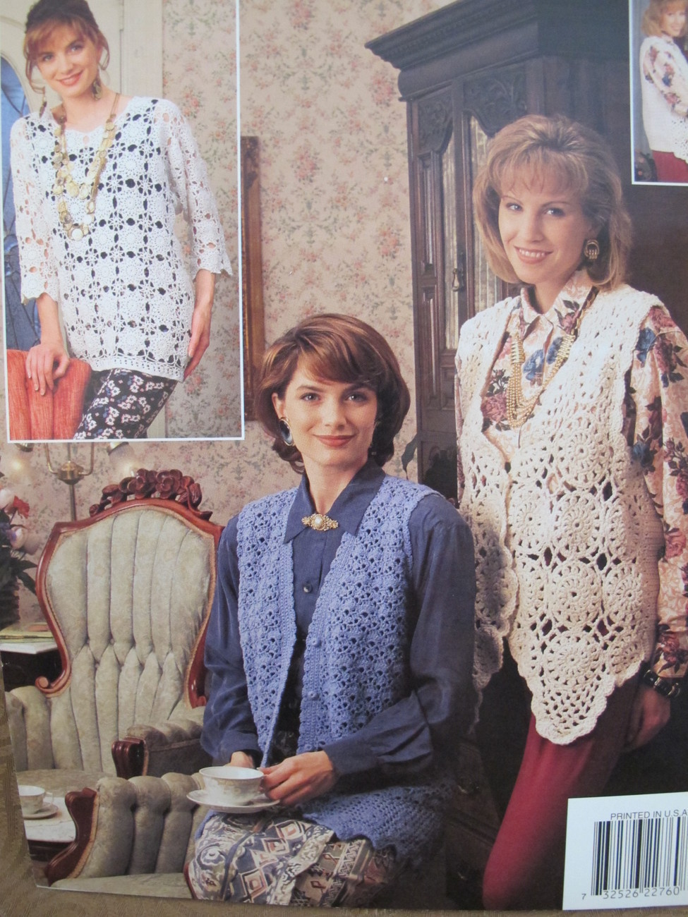 ANNIES ATTIC Crocheting Crochet Patterns LADIES Lacy Lace Vests and Sweaters