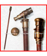 InSight Telescope Walking Stick Telescope Nautical Stick Antique Brass T... - $52.00