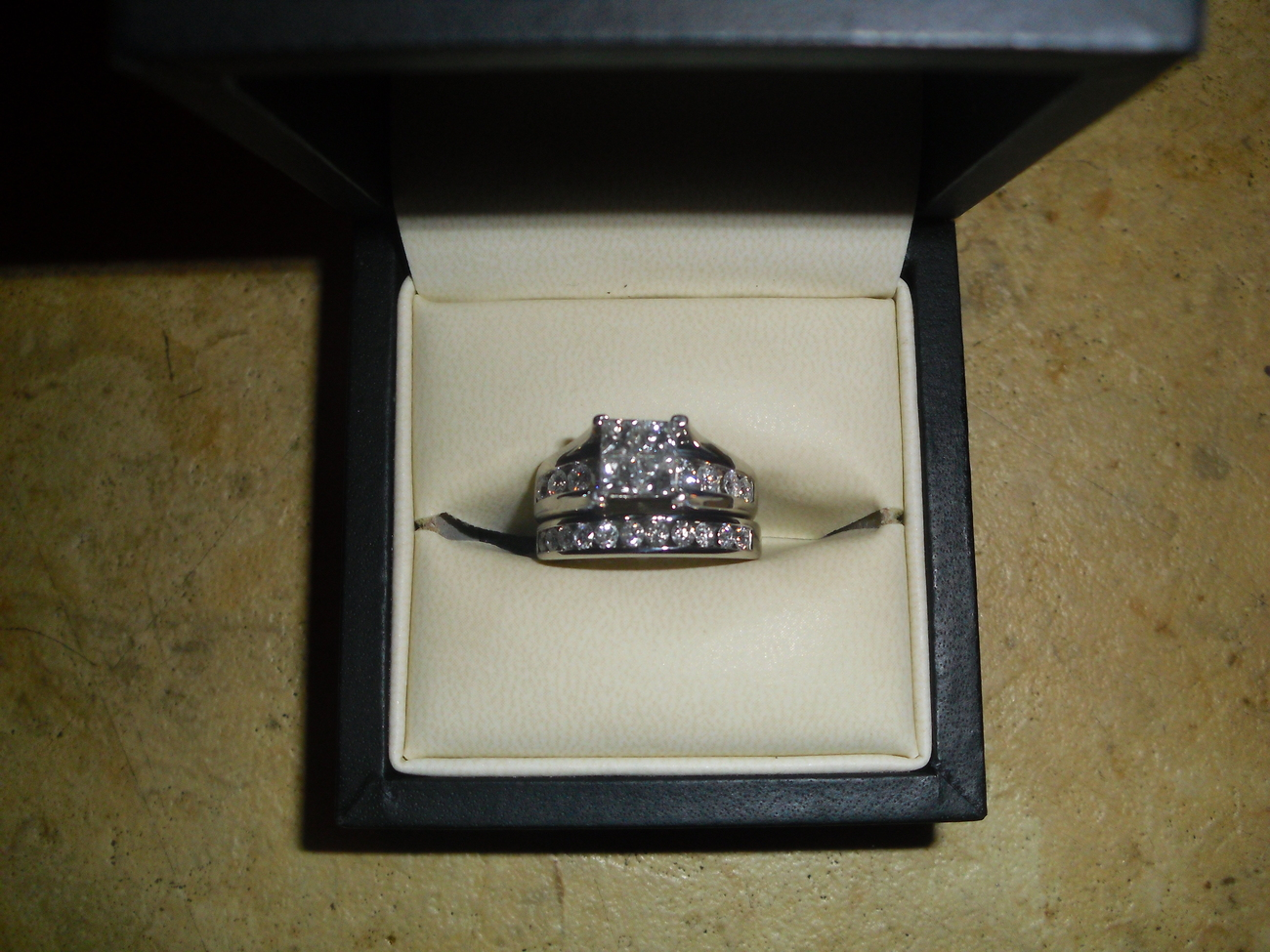 2 ct. tw. Diamond Centerpiece Wedding Set in 14K White Gold