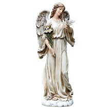Roman Josephs Poly Garden / Patio / Lawn / Flower Bed Angel With Dove St... - $128.59