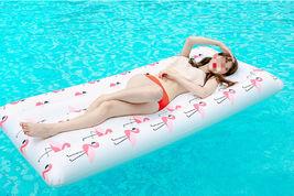 Adults Big Flamingo Inflatable Pool Raft Water Bed Hammock Ride On Float Tube image 5