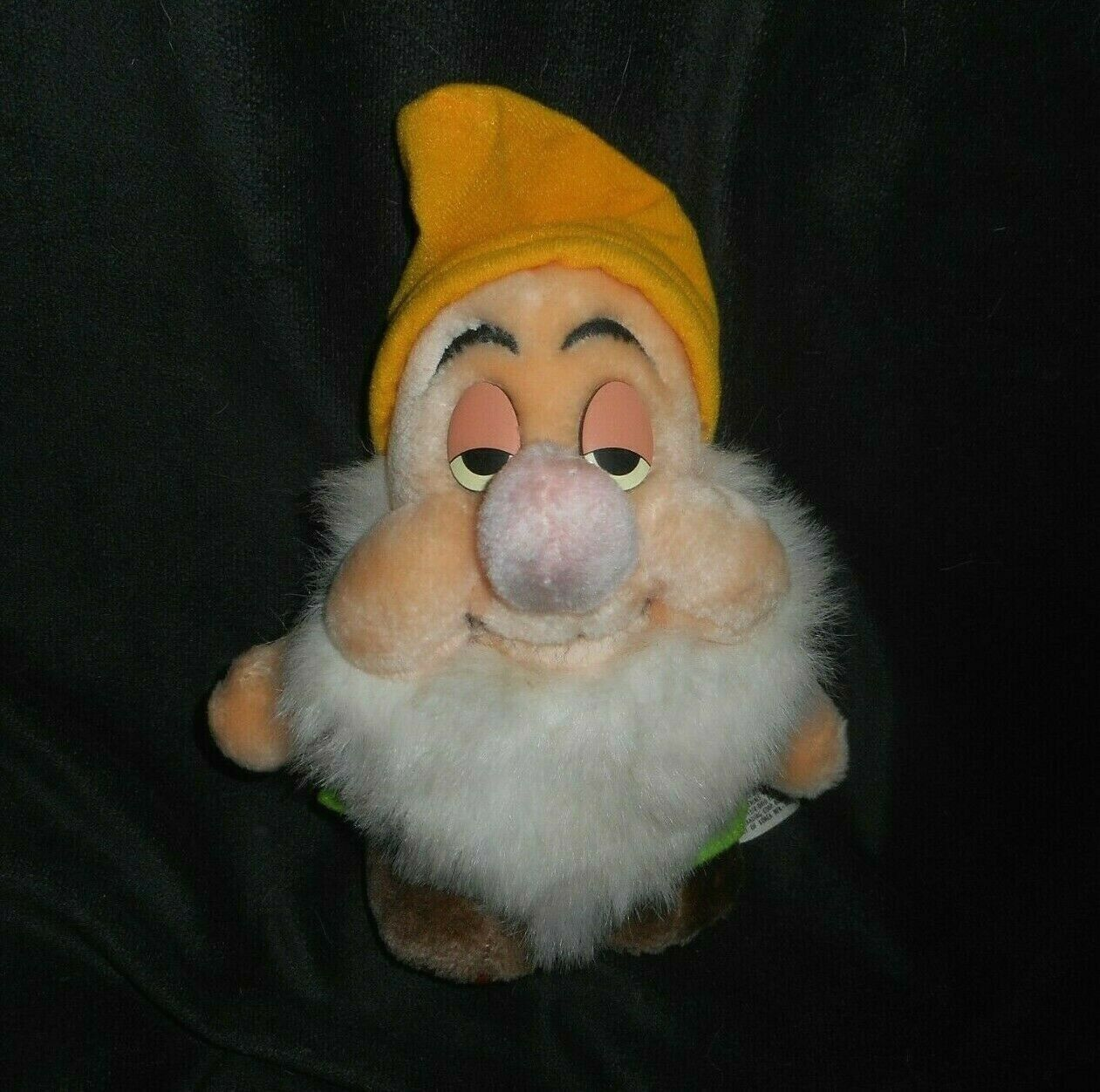 "Primary image for 7"" VINTAGE SLEEPY SNOW WHITE 7 SEVEN DWARFS DISNEY STUFFED ANIMAL PLUSH TOY DOLL"