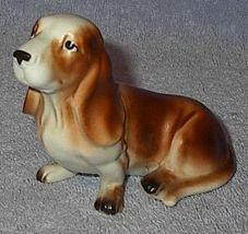 Vintage Enesco Basset Hound Porcelain Figure E4238 - $7.00