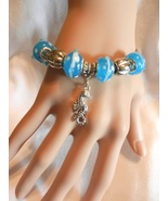 New SEALIFE Bracelet, Seahorse  Ocean European Beads Chain Bangle Bracelet - $4.99