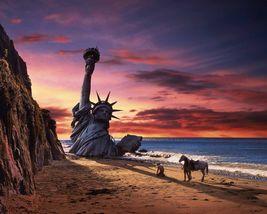 Planet of the Apes Heston Statue Liberty 11X14 Color Movie Memorabilia Photo - $14.99