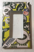 NY New York Jets Light Switch Power Outlet Duplex wall Cover Plate Home Decor image 3