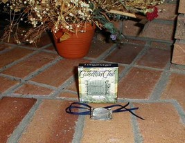 Longaberger Collector Club Cottage Gate Basket Tie On Or Pin New In Box - $10.84