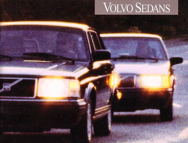 1993 Volvo SEDANS brochure catalog US 93 240 940 960