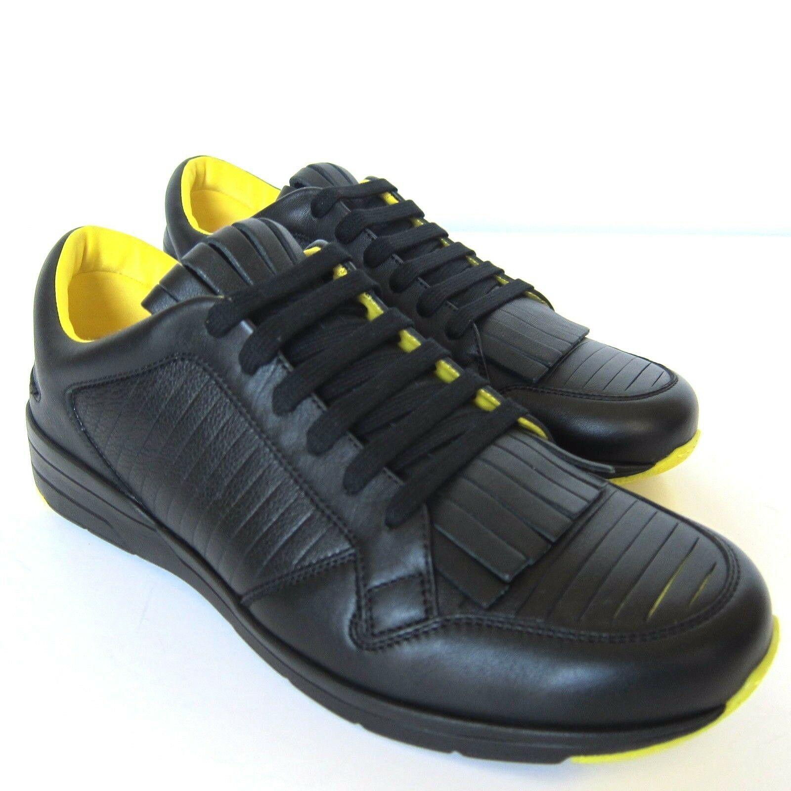 b5c630019ed W-1026189 New Gucci Miro Soft Black Leather Brava Runner Marked Size 9 US-10  -  237.49