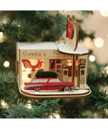 OLD WORLD CHRISTMAS GINGER COTTAGES GAS STATION CHRISTMAS ORNAMENT 84005 - $24.88