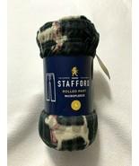 NWT Stafford Mens L Microfleece Black Plaid Puppy Dog Lounge Pajama Pants - $14.99