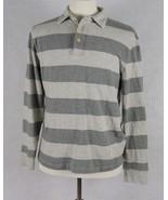 J. Crew Mens Long Sleeve Gray Polo Shirt Size Medium - $15.83