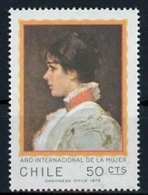 Chile Stamp International Women's Year Historical Figure Individual Mint NH - $7.55