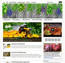 HERBAL REMEDIES blog niche website business for sale AUTO UPDATING CONTENT - $90.70