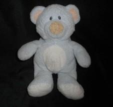 Ty Pluffies 2006 Love Pour Bébé Bleu Ours en Peluche Peach Oreilles Animal - $19.80