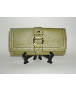 Banana Republic Green Pebbled Leather from The BR Monogram Collection Wa... - $34.99