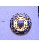UNITED STATES COAST GUARD HONORABLE DISCHARGE SCREW BACK PIN GOLD FILLED... - $9.99