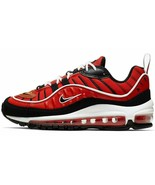 """NIKE AIR MAX 98 GS """"HABANERO RED"""" SIZE 5Y BRAND NEW FAST SHIPPING (BV487... - $89.90"""