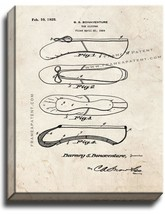 Ballet Toe Slipper Patent Print Old Look on Canvas - $39.95+