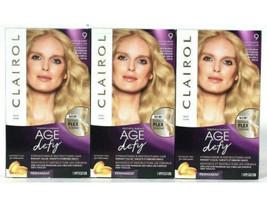 (Pack of 3) Clairol Age Defy 2X Repair Plex 9 Light Blonde Permanent Hai... - $25.64