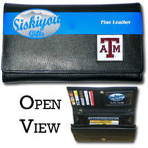 TEXAS A&M AGGIES NCAA SPORTS LADIES LEATHER CLUTCH WALLET - €25,49 EUR