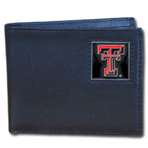 TEXAS TECH NCAA FOOTBALL SPORTS BLACK DELUXE BILLFOLD WALLET - €21,29 EUR