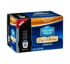 MAXWELL HOUSE CAFE COLLECTIONS HOUSE BLEND KCUPS 12CT 3.7OZ - $19.22