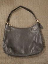 Cole Haan Black Leather Crossbody Bag Handbag Purse Gold color hardware  - $23.36