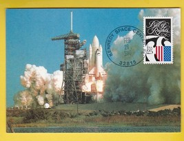 ATLANTIS STS-36 LAUNCH POSTCARD KENNEDY SPACE CENTER FL FEBRUARY 28 1990 - $1.78