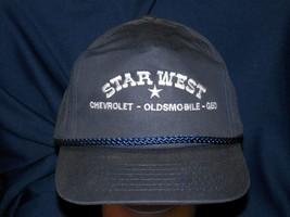 trucker hat baseball cap STAR WEST CHEVROLET OLDSMOBILE GEO retro cool v... - $39.99