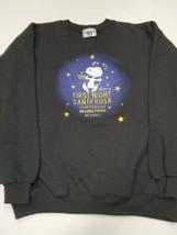 Vintage Snoopy First Night Santa Rosa Primera Noche Lee Crewneck Sweatsh... - $29.69