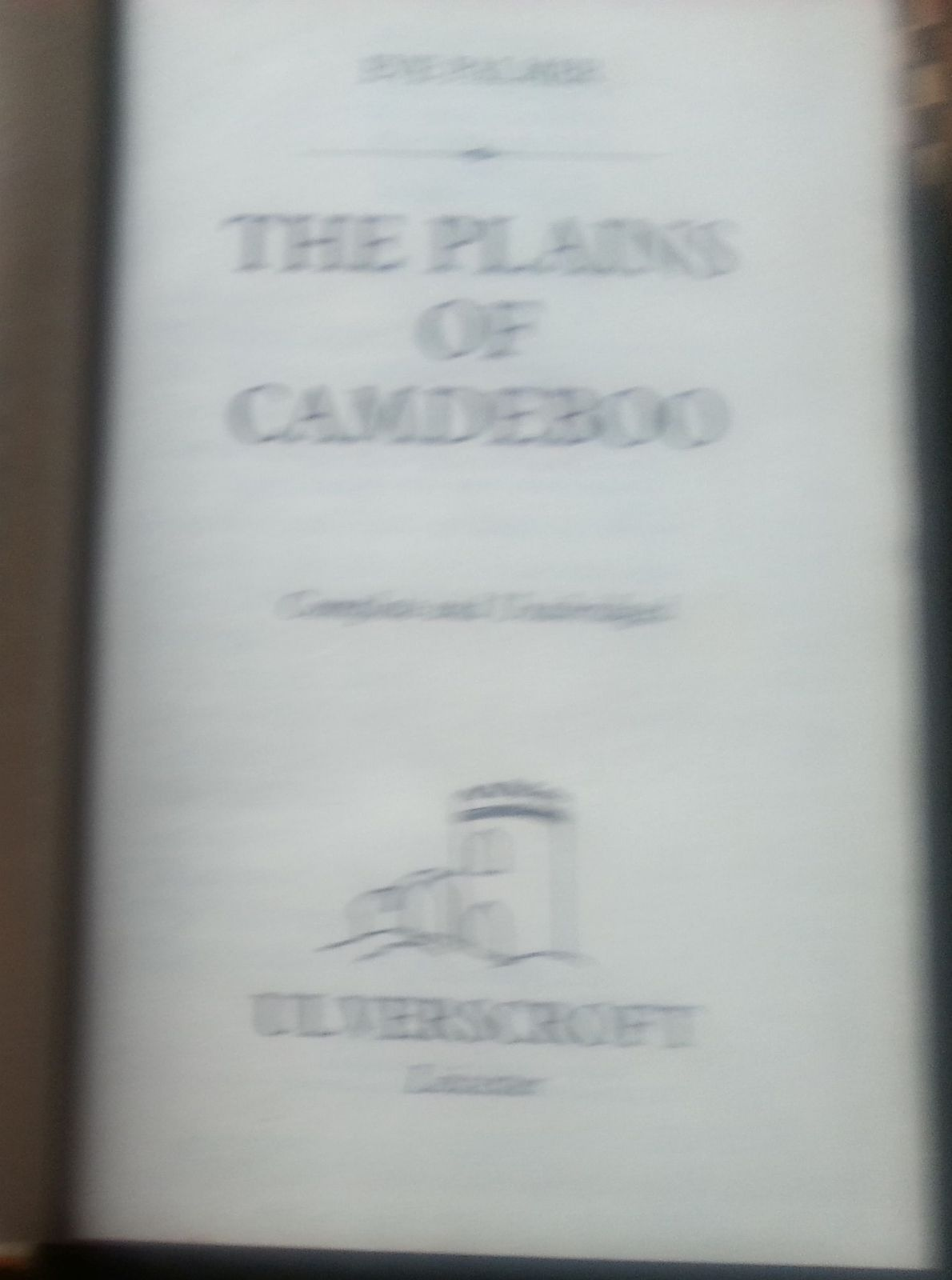 The Plains of Camdeboo by Eve Palmer 1985 HB Large Print Ed.