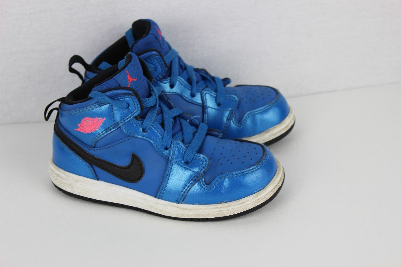 new arrival 26eaf 2f96a Nike Air Jordan Nike toddler kids leather basketball blue lace size 8C
