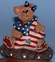 """Boyds Candle Topper""""Bess.. Stars & Stripes"""" Fits small yankee candle~#651270-New - $19.99"""
