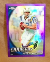Philip Rivers 2010 Topps Chrome Purple Refractor Card#53/555 PSA10?Chargers QB  - $14.84
